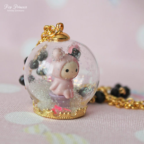 Shappo San-X Rabbit Snow Globe Necklace