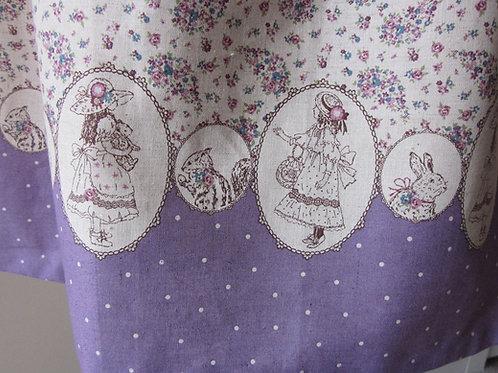 Vintage Snow White Violet and Beige Sun Dress