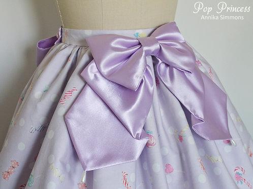 Violet Satin Bow Sweet Lolita Skirt