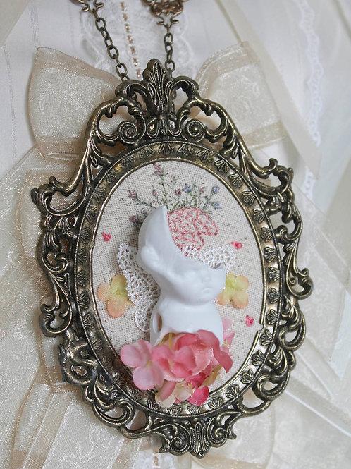 Doll Maker Pop Princess Broken Bisque Doll Necklace