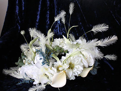 Ivory Lily and Thistle Flower Crown