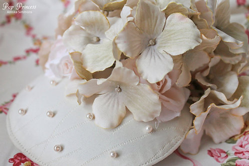 Floral and Pearl Fascinator