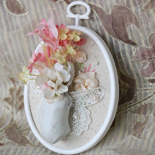 Doll Maker Porcelain Bisque Doll Brooch