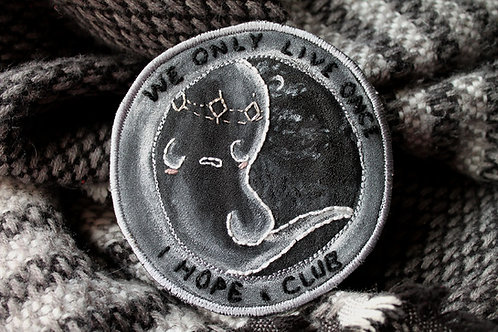 We Only Live Once I Hope Club Sad Prince Ghost Embroidered Jacket Patch