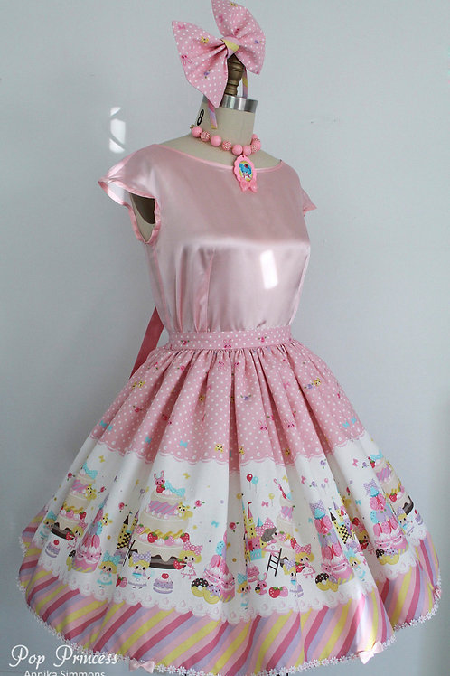 Pop Princess Pink Sweet Cakes, Sweet Lolita Skirt