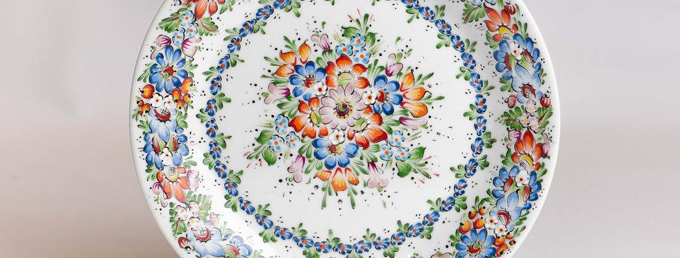 talerz ceramiczny RĘCZNIE MALOWANY - wzór opolski