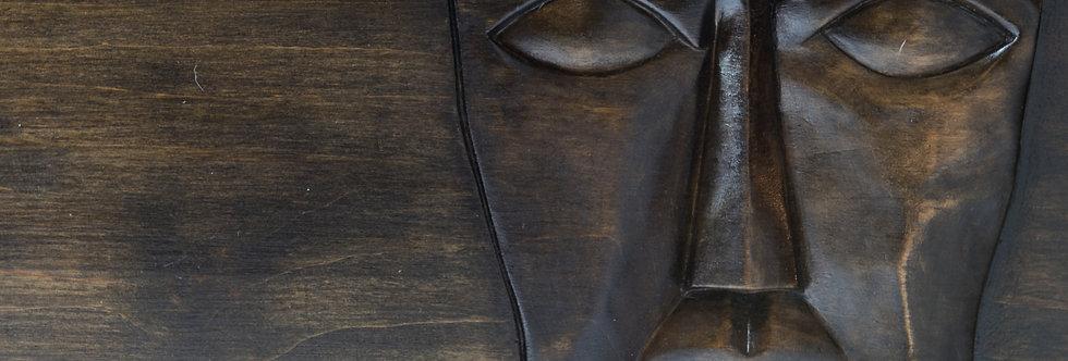 rzeźba twarz męska