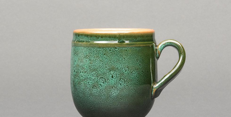 kubek z krzywym uszkiem ceramiczny duży