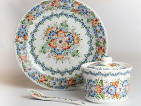 Opolski wzór ludowy - z kroszonki na porcelanę