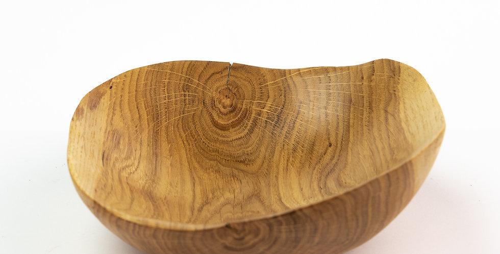miska mała drewniana - dąb