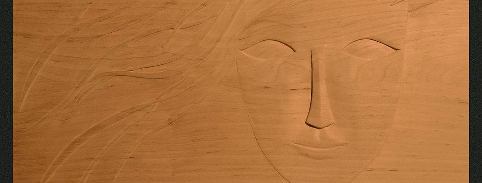 rzeźba twarz kobieca