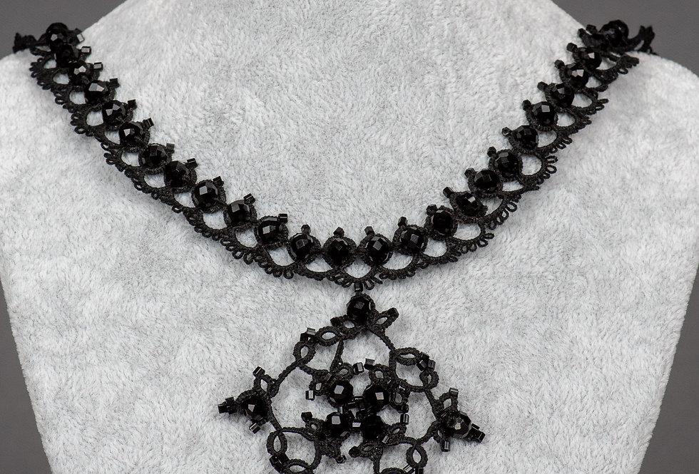 komplet biżuterii  IDA EMEAN - frywolitka