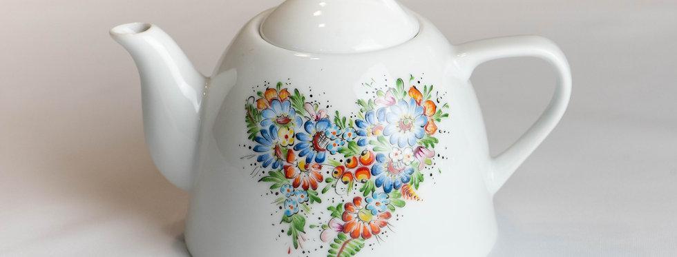 dzbanek ceramiczny RĘCZNIE MALOWANY - wzór opolski