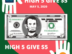 "VAACC Thanks You For ""HIGH 5 GIVE $5"" Support!"
