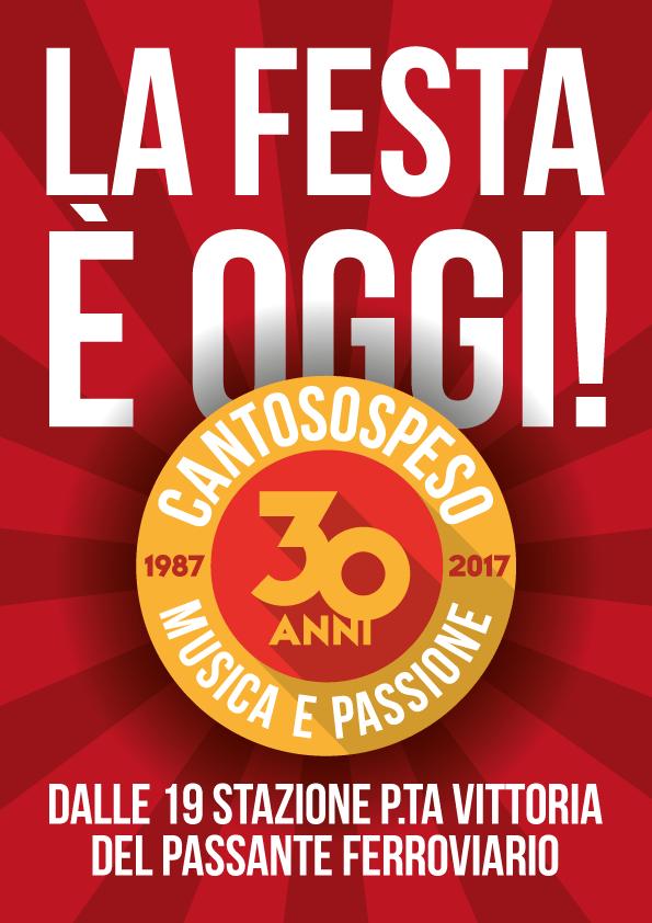 OGGI CANTOSOSPESO COMPIE 30 ANNI!