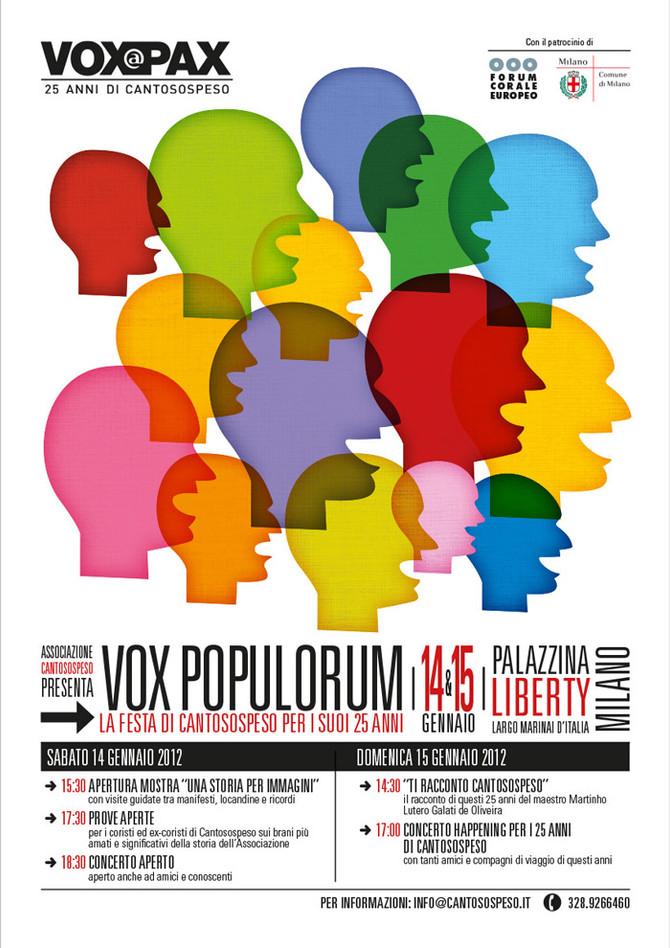 VOX POPULORUM: LA FESTA DI CANTOSOSPESO PER I SUOI 25 ANNI!