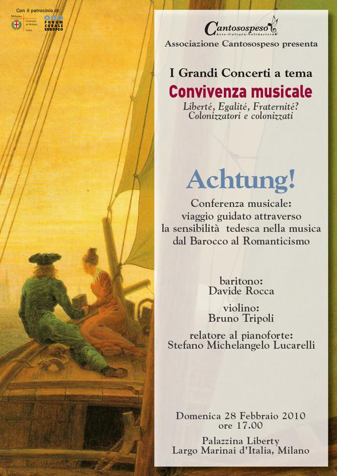 ACHTUNG! VIAGGIO ATTRAVERSO LA SENSIBILITÀ MUSICALE TEDESCA