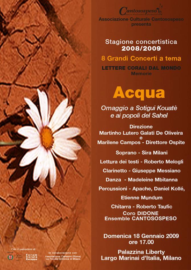 ACQUA (omaggio a Sotigui Kouatè e ai popoli del Sahel)