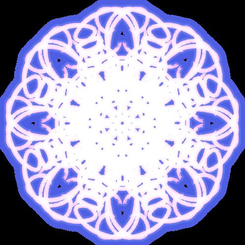 "Holographic Magic Circle Sticker 2""x2"" - Dream"