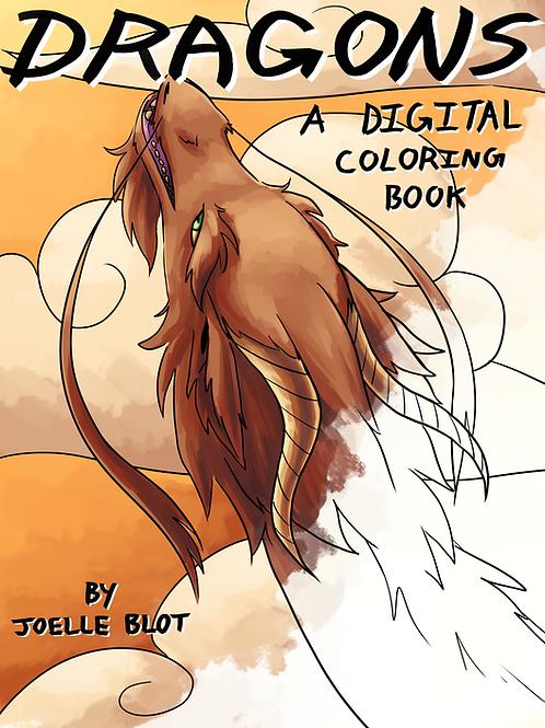 Dragons: PDF Coloring Book by Joelle Blot
