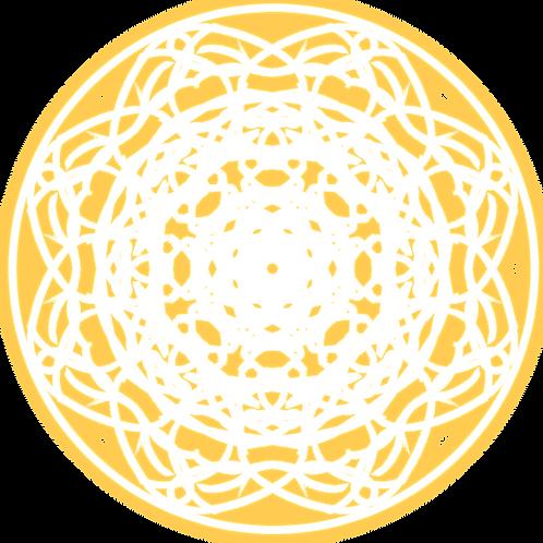 "Holographic Magic Circle Sticker 2""x2"" - Revivify"