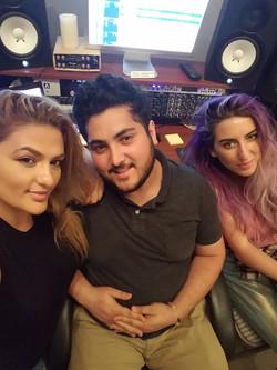 Paula Andrei and Mena C Recording Session