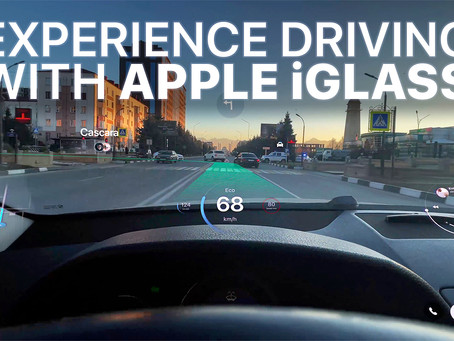 Experience Driving a Car with Apple Glasses