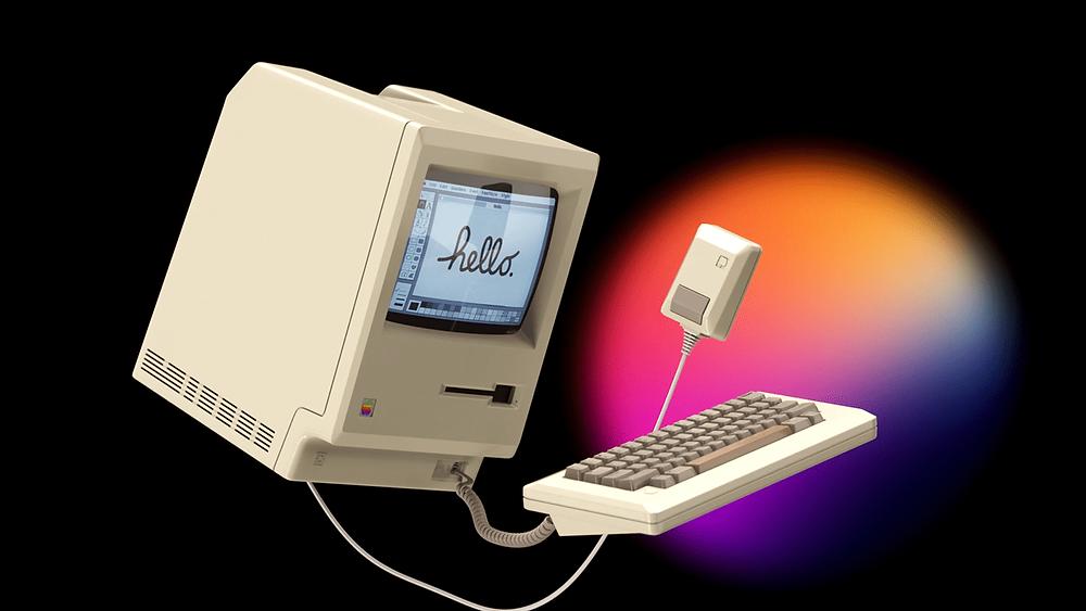 Apple Macintosh 128k but in 2021