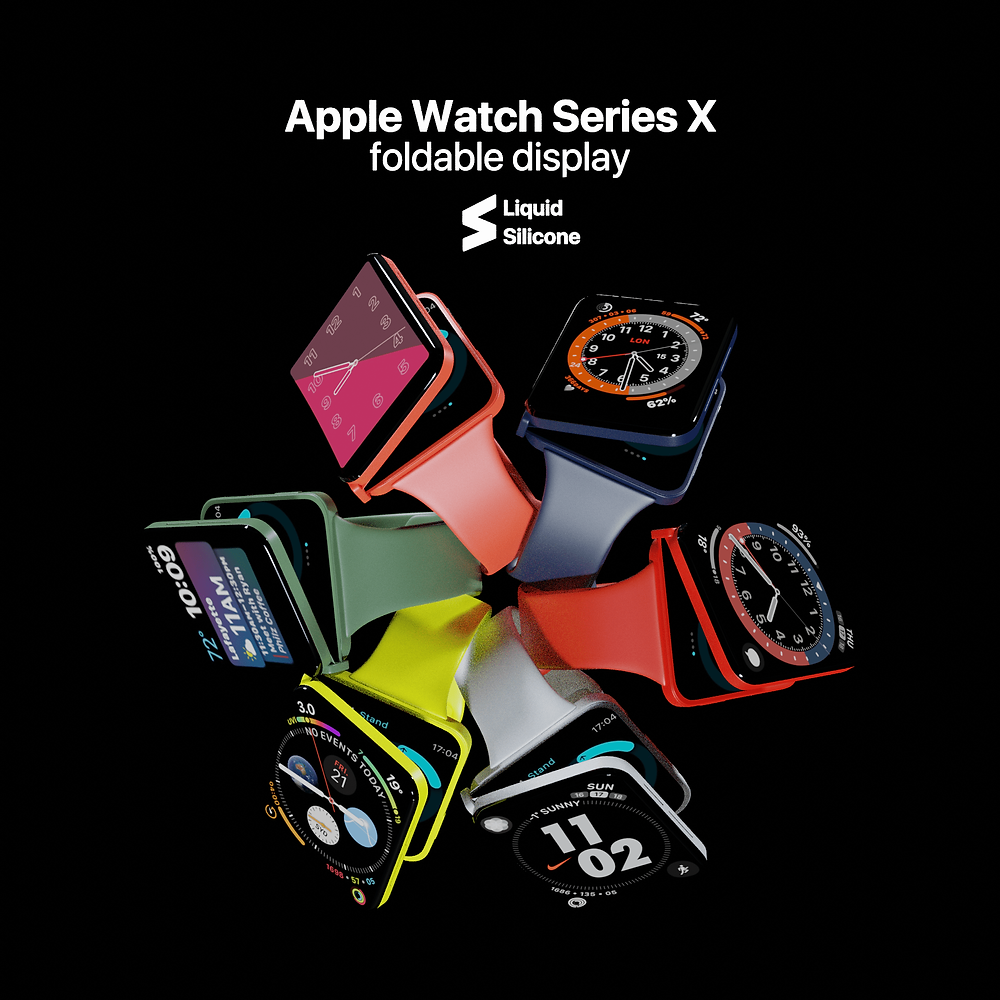 apple watch fold,foldable apple watch,apple foldable device,apple,apple watch,series 7,watch series 7,watch series x,apple iphone fold,foldable iphone