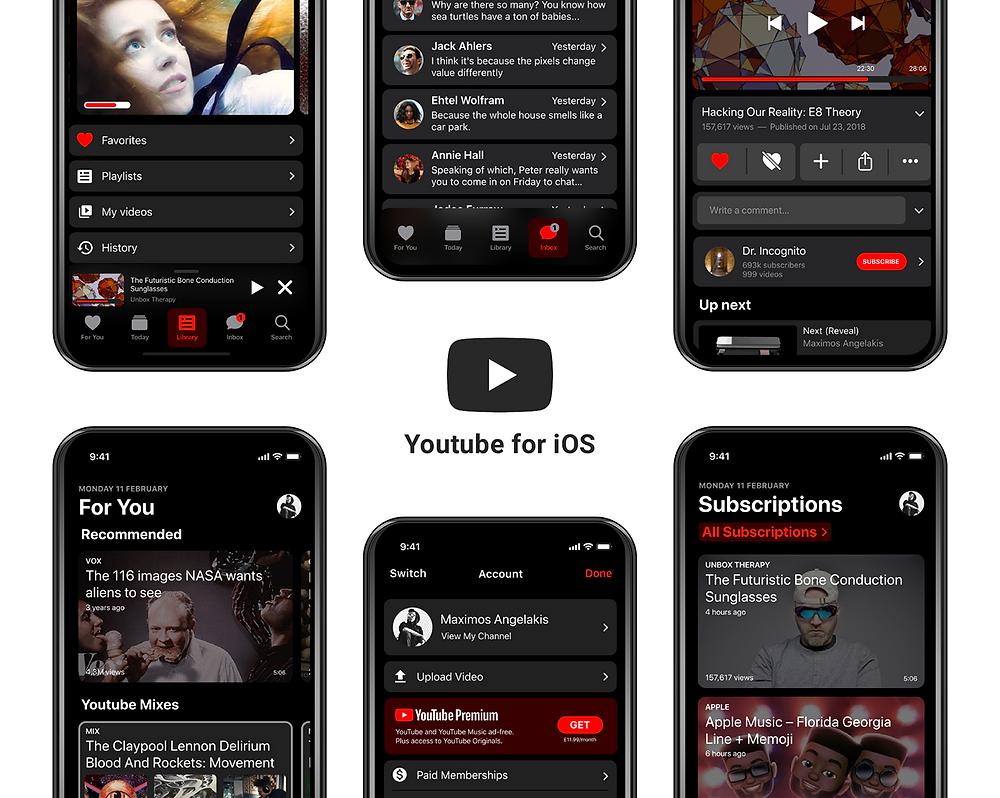 youtube app,youtube app redesign,youtube for ios,ios app youtube,download new youtube ios,apple youtube ,youtube design change,