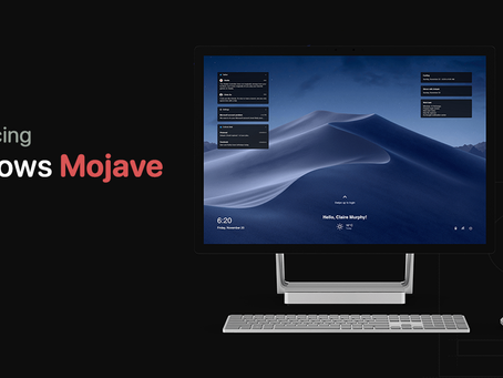 Introducing Windows Mojave — What if Apple Created Windows? — Concept