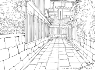Perspective 2 Traditional Alleyway Japan