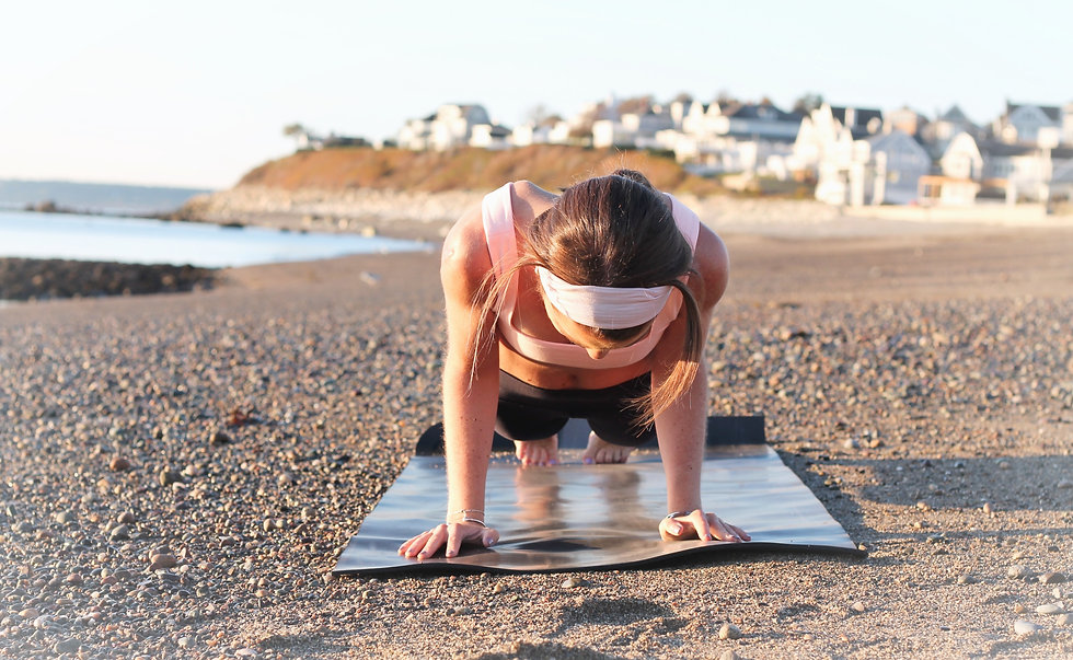 Empowering Beach Power Yoga Workout