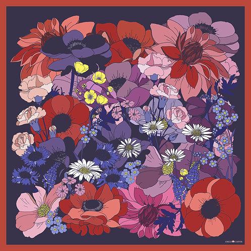 The English Garden Silk Scarf - Rose