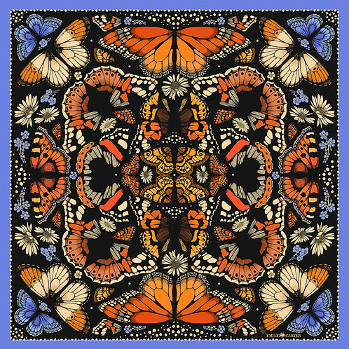 The British Butterfly Silk Scarf