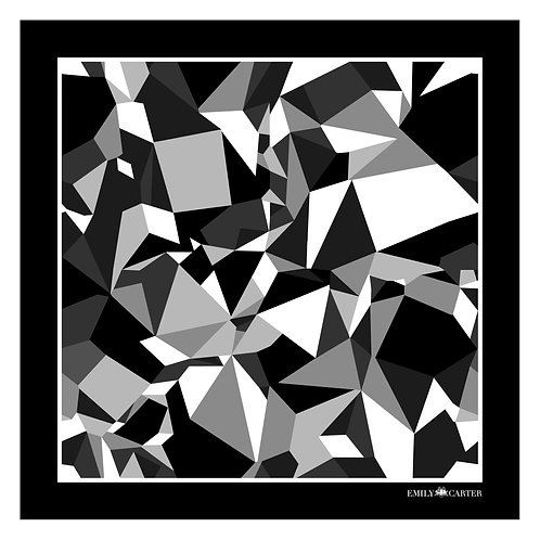 The Prism Pocket Square - Black