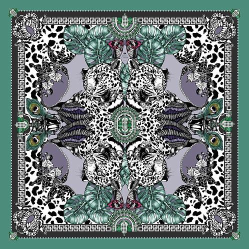 The Jewel & Jaguar Silk Scarf