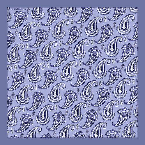 The Paisley Pocket Square - Grey
