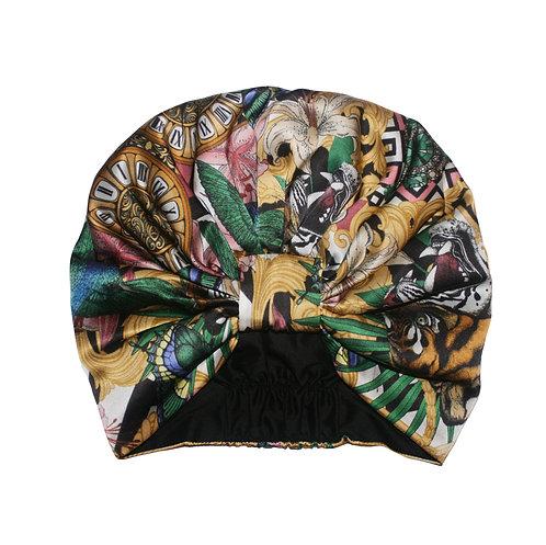 The Baroque Tiger Silk Turban