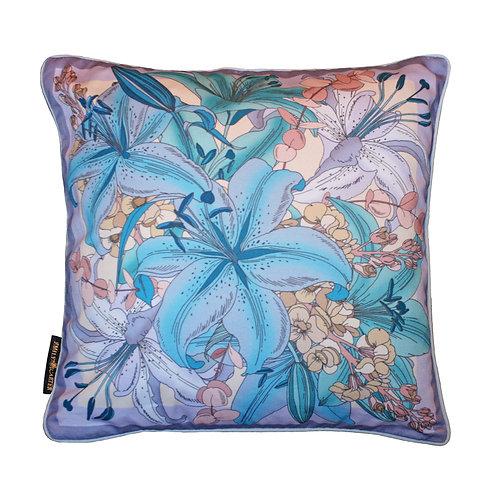 The Lily Bouquet Cushion - Lilac 45x45cm