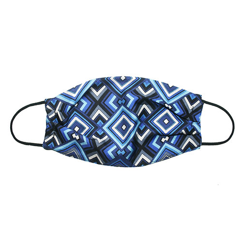 Upcycled Silk Face Mask (Non-Medical) - Blue Tile