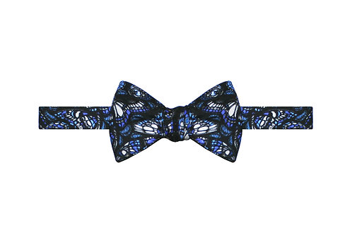 The Tropical Butterfly Bow Tie - Royal Blue
