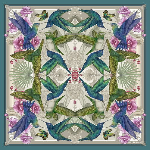 The Hummingbird Temple Silk Scarf