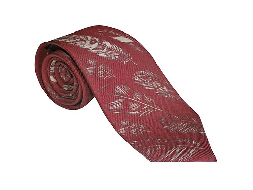 The Feather Tie - Burgundy