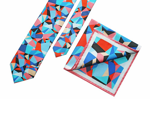 The Spectrum Tie & Pocket Square - Gift Set