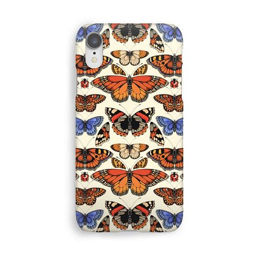 British Butterfly Luxury Phone Case - Cream