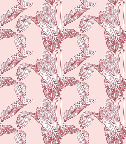 Palm Leaf Print - Pink