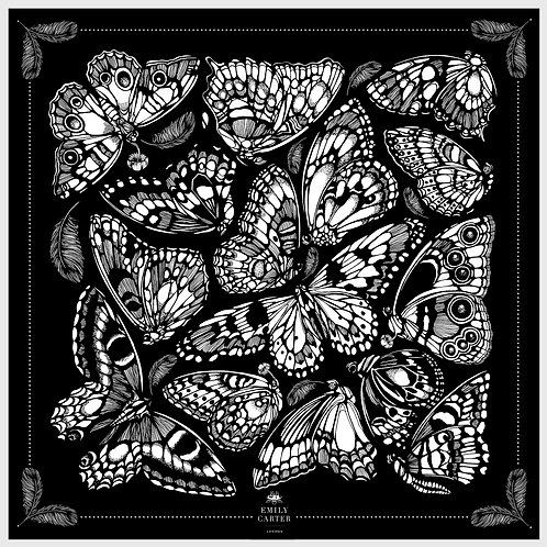 The Tropical Butterfly Silk Scarf