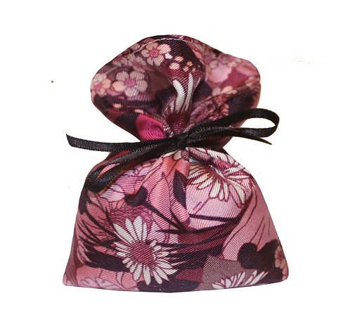 Silk Lavender Bag - Pink Floral