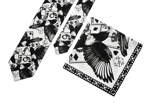 The Poker Tie & Pocket Square - Gift Set
